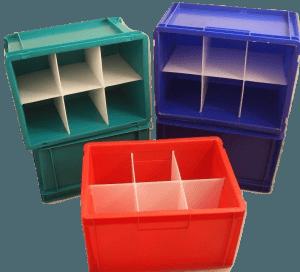 bespoke fabrication plastic fabricator coloured identification box dividers space saving welding