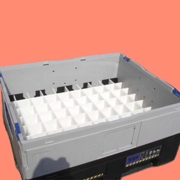 bespoke fabrication plastic fabricator flc folding container large pallet base dividers k595