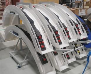 plastic fabricator fabrication welding wiring loom arch jet engine aerospace trolley space saving lightweight